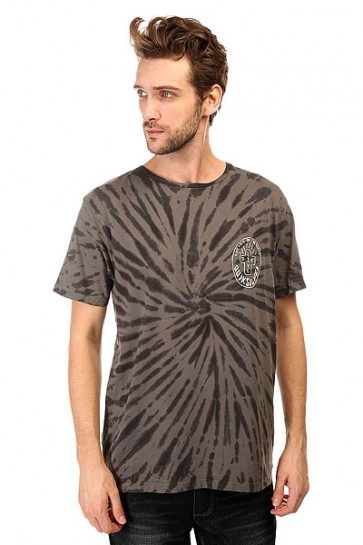 Футболка Quiksilver Live And Dyess Tees Tarmac, 1140614,  Quiksilver, цвет серый