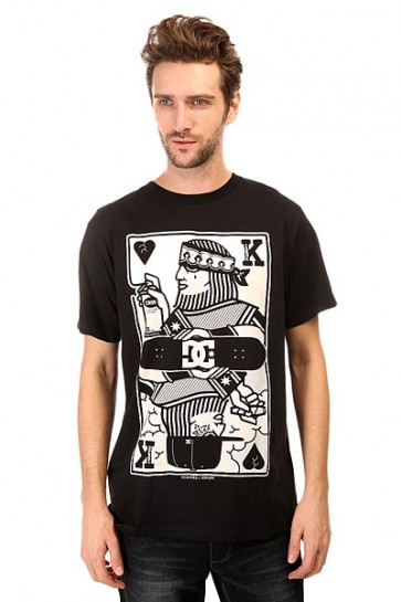 Футболка DC 123 Kingcard Tees Black, 1140655,  DC Shoes, цвет черный