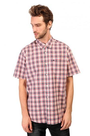 Рубашка в клетку Quiksilver Every Day Checkss Wvtp Everyday Check Dark, 1140680,  Quiksilver, цвет белый, красный, синий