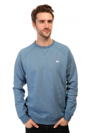 Толстовка свитшот Quiksilver Everyday Crew Otlr Federal Blue, 1140694,  Quiksilver, цвет голубой