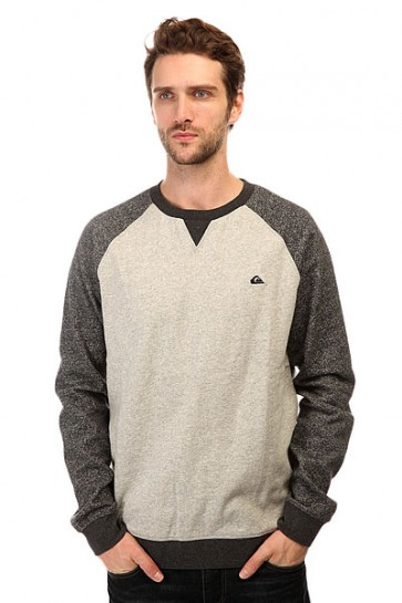 Толстовка свитшот Quiksilver Rioneg Ro Crew Otlr Light Grey Heather, 1140697,  Quiksilver, цвет серый