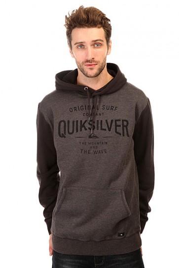 Толстовка кенгуру Quiksilver Iceroute Otlr Tarmac, 1140712,  Quiksilver, цвет серый, черный