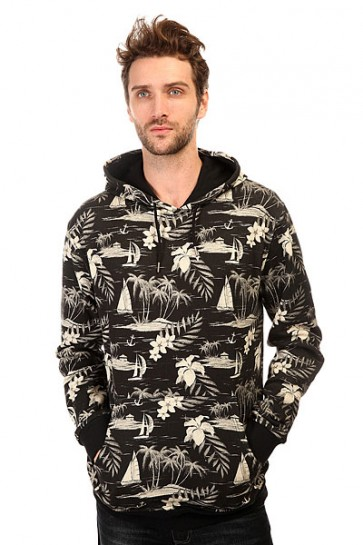 Толстовка кенгуру DC Lynden Otlr Cruiser Island Black, 1140716,  DC Shoes, цвет бежевый, черный