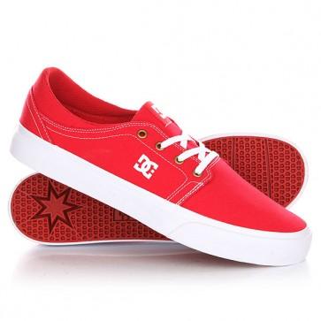 Кеды кроссовки низкие DC Trase Tx Red/White, 1143711,  DC Shoes, цвет красный