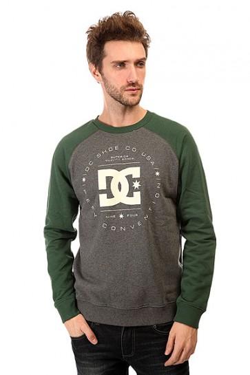 Толстовка классическая DC Rebuilt Crew Ra Otlr Pinecone, 1140874,  DC Shoes, цвет зеленый, серый