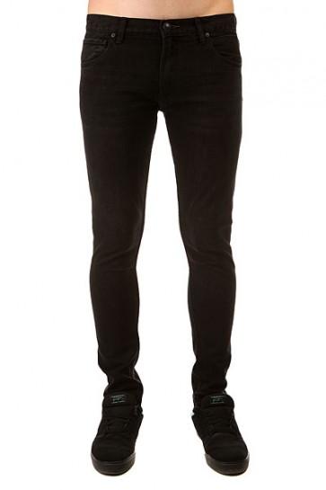 Джинсы узкие Quiksilver Killing Zone Pant Black Rinse, 1140894,  Quiksilver, цвет черный