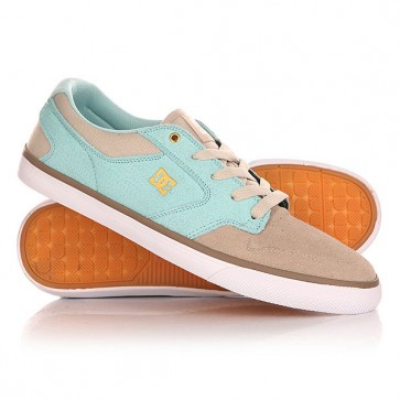 Кеды кроссовки низкие женские DC Argosy Vulc Tan, 1140937,  DC Shoes, цвет бежевый, голубой