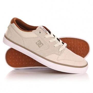 Кеды кроссовки низкие DC Argosy Vulc Cream, 1140940,  DC Shoes, цвет бежевый