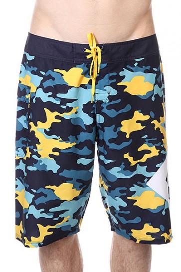 Шорты пляжные DC Lanai Yellow Pop Army, 1120792,  DC Shoes, цвет голубой, желтый, синий