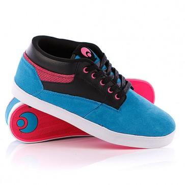 Кеды кроссовки высокие Osiris Chaveta Blue/Black/Pink, 1070577,  Osiris, цвет голубой, розовый, черный