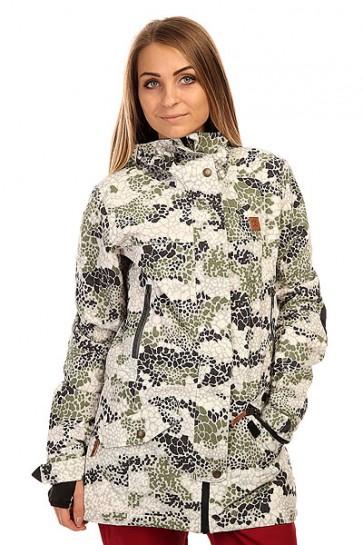 Куртка  женская DC Shoes Nature Dpm Jkt Dpm Camo, 1135975,  Roxy, цвет белый, зеленый, черный
