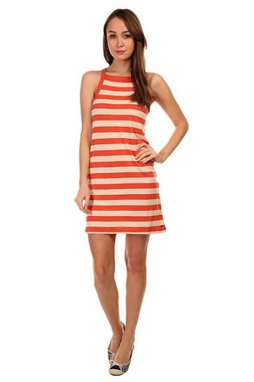 Платье женское Roxy Stranded Ktdr Classic Stripe Chili, 1144034,  Roxy, цвет бежевый, оранжевый
