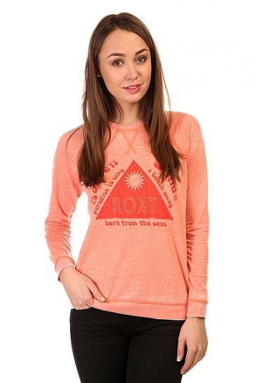Толстовка свитшот женская Roxy Rayofgoldsands Desert Flower, 1144047,  Roxy, цвет розовый