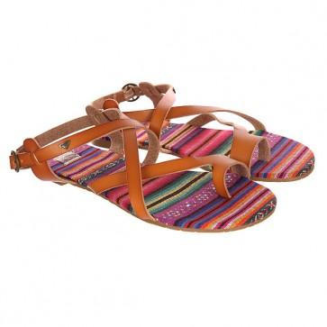 Сандалии женские Roxy Marrakech Brown, 1144109,  Roxy, цвет коричневый, мультиколор