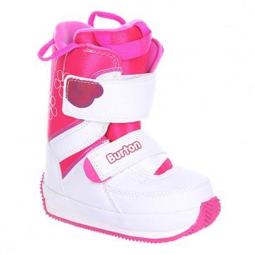 Ботинки для сноуборда детские Burton Grom White/Pink, 1136351,  Burton, цвет белый, розовый