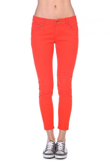 Джинсы узкие женские Roxy Pixie Colors J Pant Fiery Orange, 1111571,  Roxy, цвет оранжевый