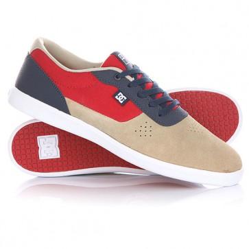 Кеды кроссовки низкие DC Switch S Lite Red/Blue, 1144717,  DC Shoes, цвет бежевый, красный, синий