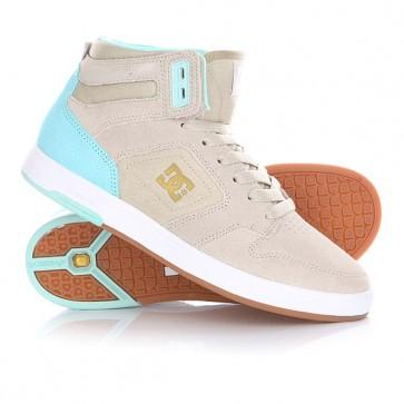 Кеды кроссовки высокие женские DC Argosy High Se Tan, 1144722,  DC Shoes, цвет бежевый, голубой