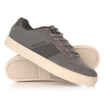 Кеды кроссовки низкие Quiksilver Circuit Shoe Grey/Grey/White, 1156025,  Quiksilver, цвет серый
