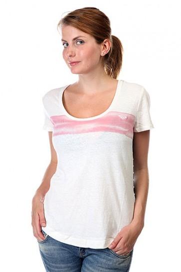 Футболка женская Roxy Scoopteec J Tees Sea Spray, 1124230,  Roxy, цвет белый, розовый, синий