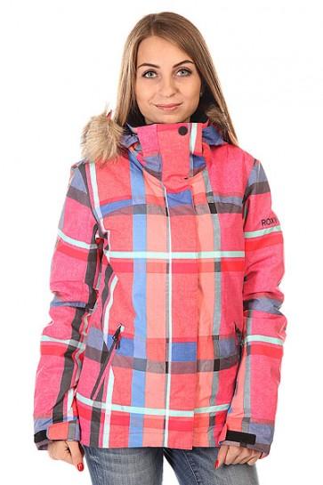 Куртка женская Roxy Jet Ski Jk J Snjt Mauna Plaid, 1129970,  Roxy, цвет розовый