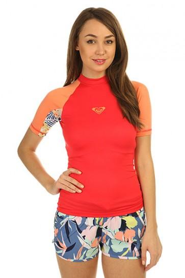 Гидрофутболка женская Roxy Xy Ss Tomato Red, 1146574,  Roxy, цвет розовый