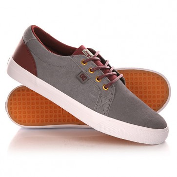 Кеды кроссовки низкие DC Council Se Grey/White, 1141534,  DC Shoes, цвет бордовый, серый