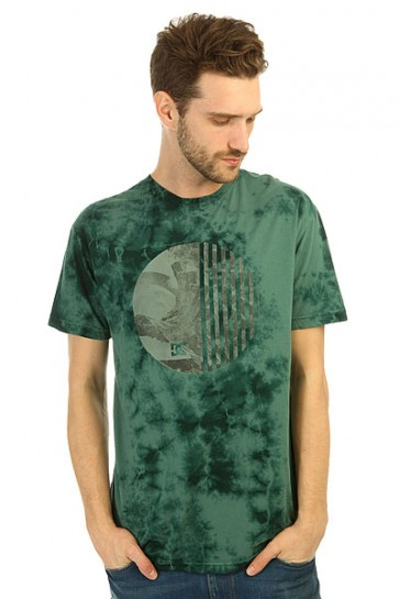Футболка DC Spiral Symbl Deep Teal, 1146701,  DC Shoes, цвет зеленый