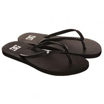 Вьетнамки женские DC Spray Black/White, 1146765,  DC Shoes, цвет черный