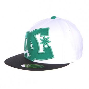 Бейсболка DC Ya Heard Hats White/Cadmium, 1116903,  DC Shoes, цвет белый, зеленый, черный