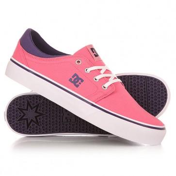 Кеды кроссовки низкие женский DC Shoes Trase Tx J Pink/Boysenberry, 1151710,  DC Shoes, цвет розовый