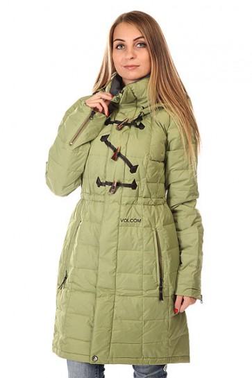 Пуховик женский Volcom Camden Down Parka Cedar Green, 1130378,  Volcom, цвет зеленый