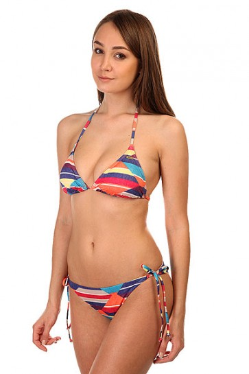 Купальник женский Roxy Tiki Tri/Tie Si Desert Point Geo Com, 1144846,  Roxy, цвет мультиколор
