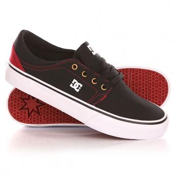 Кеды кроссовки низкие DC Trase Tx Shoe Black/Red, 1142036,  DC Shoes, цвет бордовый, черный