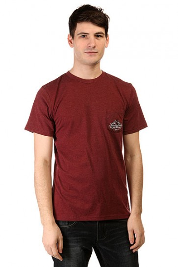Футболка DC Skisland Ss Tees Heather Syrah, 1142058,  DC Shoes, цвет бордовый