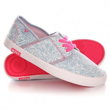 Кеды кроссовки низкие детские Roxy Rg Hermosa G Shoe Chambray, 1142145,  Roxy, цвет белый, синий