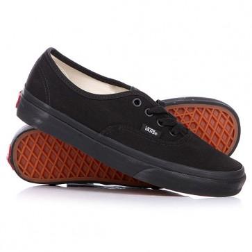 Кеды кроссовки низкие Vans Authentic True Black, 1124611,  Vans, цвет черный