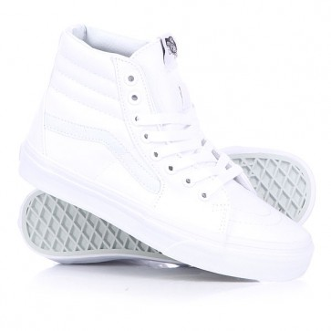 Кеды кроссовки высокие Vans Sk8 Hi True White, 1124621,  Vans, цвет белый