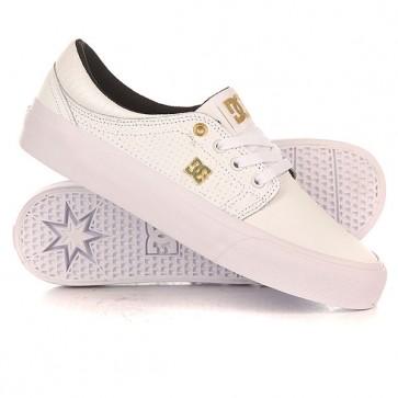Кеды кроссовки низкие женские DC Trase Le White/Gold, 1156477,  DC Shoes, цвет белый