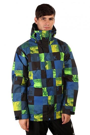 Куртка Quiksilver Mission Print Check Kasper Snow Blue, 1130776,  Quiksilver, цвет зеленый, синий