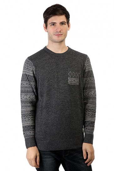 Джемпер Billabong Piddock Black, 1160396,  Billabong, цвет серый
