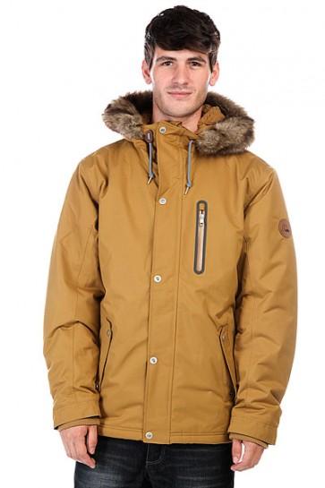 Куртка парка Quiksilver Arris Jkt Dull Gold, 1124802,  Quiksilver, цвет коричневый