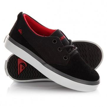 Кеды кроссовки низкие детские Quiksilver Beacon Black/Black/Grey, 1145070,  Quiksilver, цвет черный