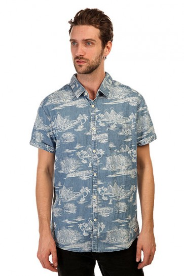 Рубашка Quiksilver Pyramid Point S Pyramid Point Shirt Ocean Blue, 1145115,  Quiksilver, цвет синий