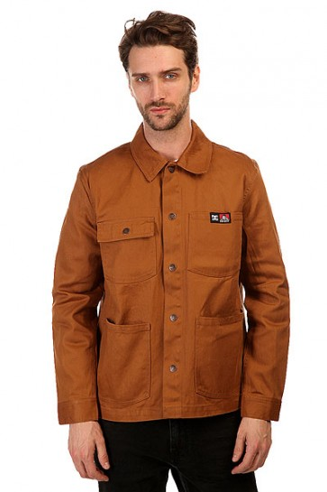 Куртка джинсовая DC Front Snap Wheat, 1145135,  DC Shoes, цвет коричневый