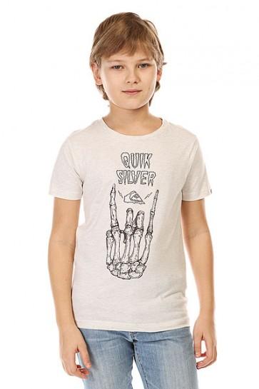 Футболка детская Quiksilver Gravestone Tees Snow White Heather, 1142392,  Quiksilver, цвет бежевый