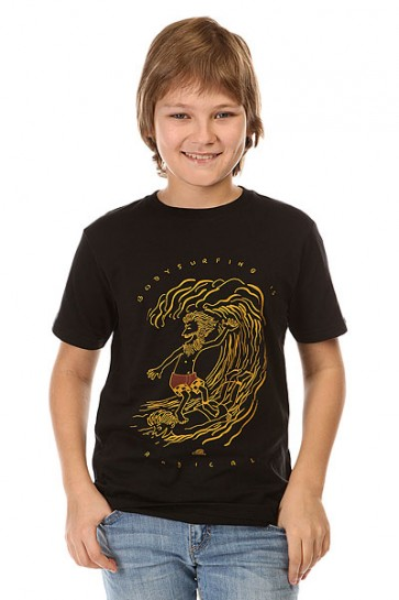 Футболка детская Quiksilver Radical Surfing Tees Anthracite, 1142403,  Quiksilver, цвет черный