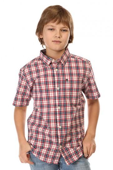 Рубашка в клетку детская Quiksilver Every Checkss You Wvtp Everyday Check Dark, 1142425,  Quiksilver, цвет белый, красный, синий