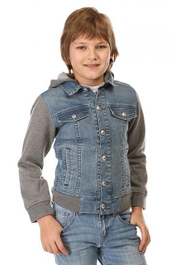 Куртка джинсовая детская Quiksilver Jungle Temple You Jckt Blue Salted, 1142426,  Quiksilver, цвет серый, синий