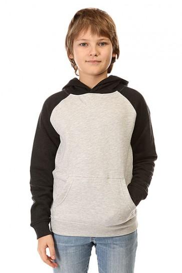 Толстовка кенгуру детская DC Rebel Rag By Otlr Light Heather Grey, 1142439,  DC Shoes, цвет серый, черный